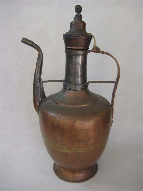 Large Vintage Turkish Meddle East Copper Hand Made Coffee