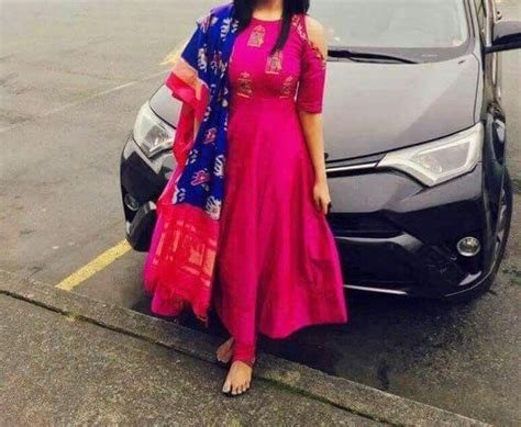 Anarkali with simple pattu Ikkat Dupatta | Clothes for