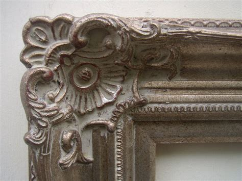 Wide Ornate Warm Champagne Silver Antique Style Picture