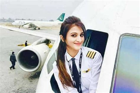Pictures of a female Pakistani pilot go viral on social media