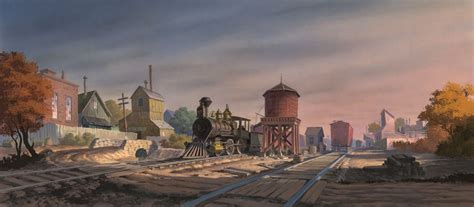 Backgrounds from Lady And The Tramp (1955, Walt Disney