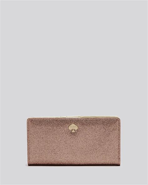 Kate Spade Wallet - Glitter Bug Stacy Continental in Rose