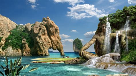 3D Landscape: Fantasy Waterfall, picture nr