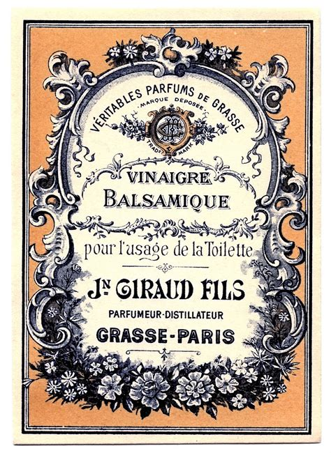 Vintage Clip Art - Lovely French Label - The Graphics Fairy