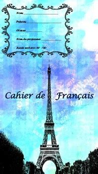 Back to school 10 Front page French book covers by MFL-EAL