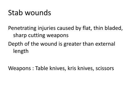 PPT - PENETRATING INJURIES PowerPoint Presentation, free