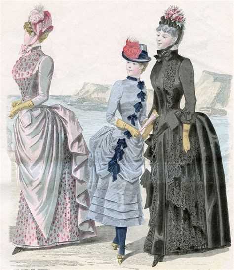 Vintage Clip Art - Victorian Fashions - French - The