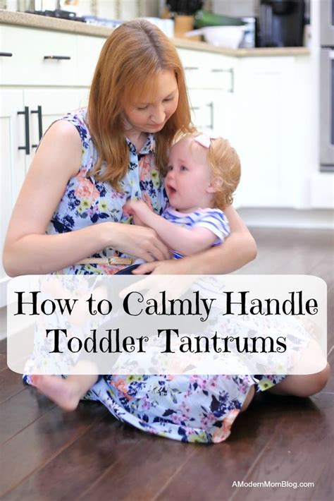 Toddler Tantrum - Tips for Dealing with Tantrums Calmly