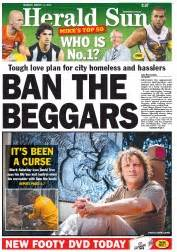 Australian Newspaper Front Pages for Monday, 11 March 2013