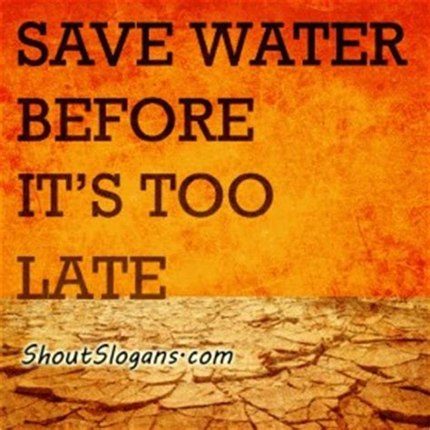 Quotes About Saving Water