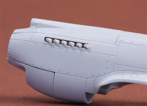 Curtiss P-40B exhaust for Airfix kit 1/72 scale SBS-72039