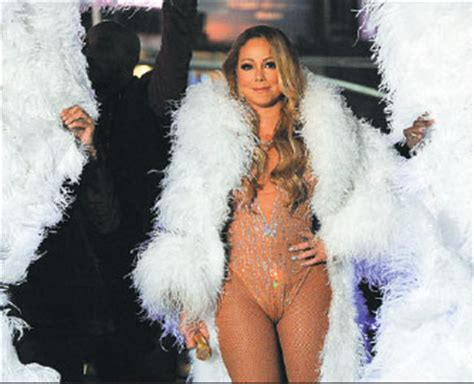 mariah carey performs during the concert in times square