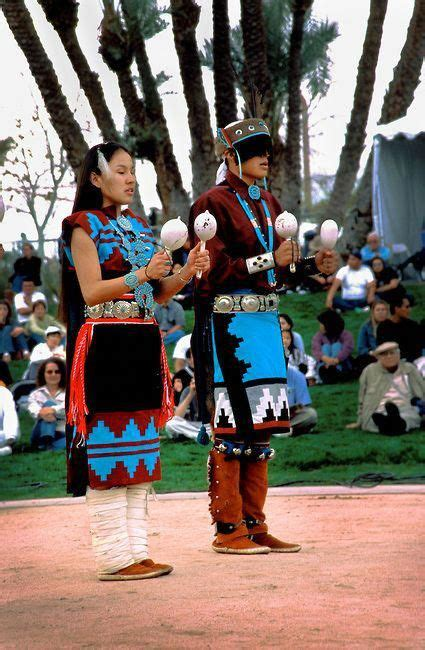 Group of Navajo youth dressed in traditional regalia
