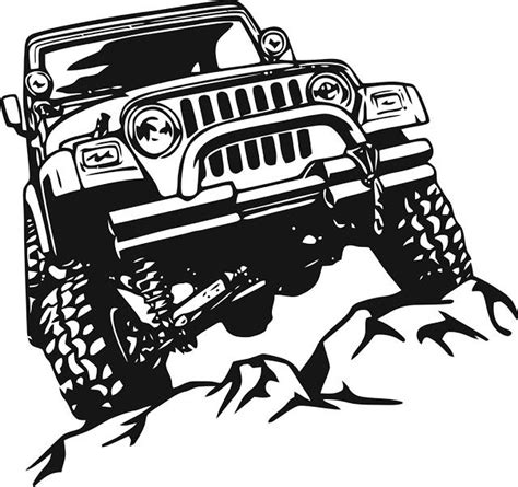 offroad jeep sticker cdr file download   Jeep decals, Jeep