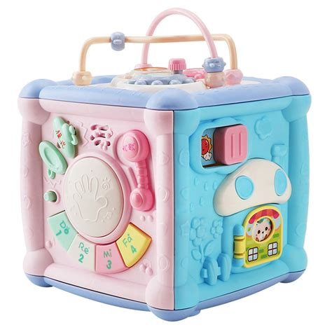 Lzndeal Music Light Activity Cube Multifunction Game Box