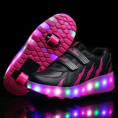 Kids LED Shoes Roller Skate Shoes Fashion Wheels Sneakers