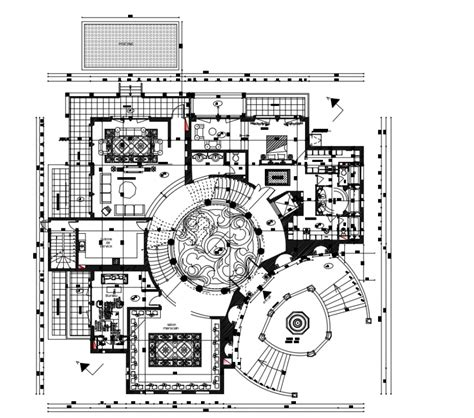 2d cad drawing of plan housing design auto cad software