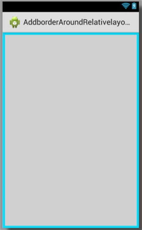 Add border around relativelayout in android with custom