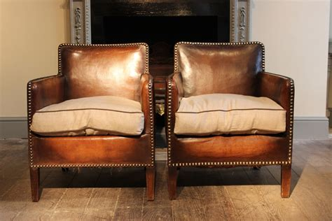 Wonderful pair of Small 1920s French Studded Leather