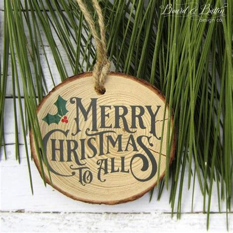 Merry Christmas to All Vintage Christmas SVG File – Board