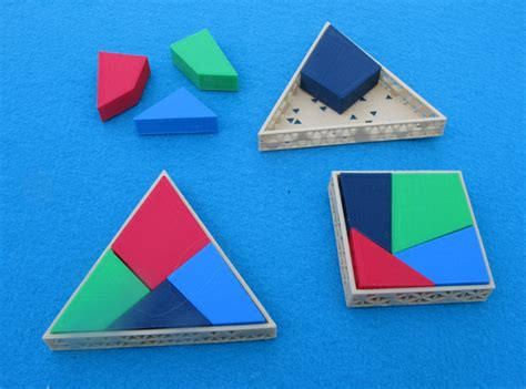 Square into Triangle Puzzle #3DThursday #3DPrinting