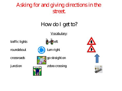 Asking for & Giving Directions in the Street