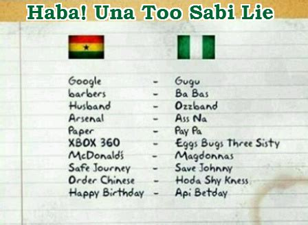 This Ghanaian Vs Nigerian Words Pronunciation Is The